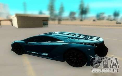 Pegassi Zentorno Next Gen pour GTA San Andreas sur la vue arrière gauche