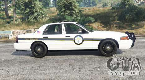 GTA 5 Ford Crown Victoria State Trooper [replace] vue latérale gauche