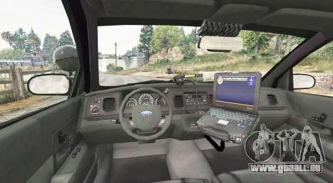 GTA 5 Ford Crown Victoria State Trooper [replace] arrière droit vue de côté