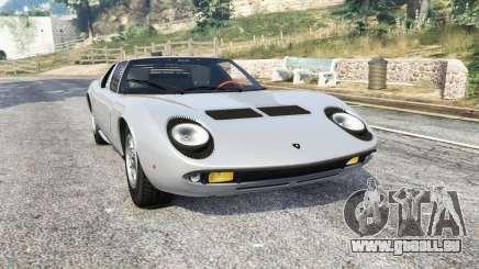 Lamborghini Miura P400 1967 v1.3 [replace] pour GTA 5