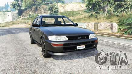 Toyota Corolla v1.15 black edition [replace] pour GTA 5