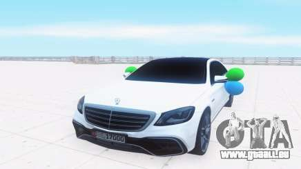Mercedes-Benz W222 белый pour GTA San Andreas