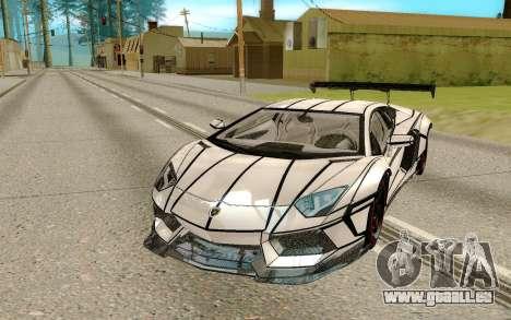 Lamborghini Aventador LP700-4 pour GTA San Andreas vue arrière