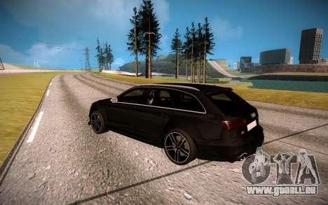 Audi RS6 Avant pour GTA San Andreas vue de droite