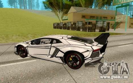 Lamborghini Aventador LP700-4 pour GTA San Andreas vue de droite