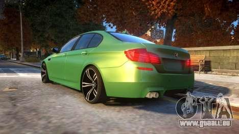 BMW M5-series F10 Azerbaijan style für GTA 4 hinten links Ansicht