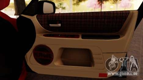 Toyota Altezza pour GTA San Andreas vue de dessous