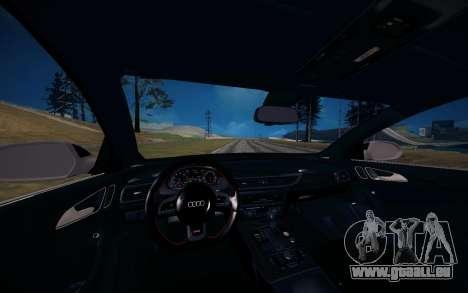 Audi RS6 Avant pour GTA San Andreas vue intérieure