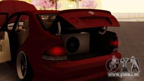Toyota Altezza pour GTA San Andreas vue intérieure