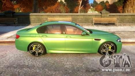 BMW M5-series F10 Azerbaijan style für GTA 4 Rückansicht