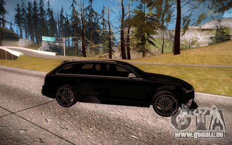 Audi RS6 Avant pour GTA San Andreas laissé vue