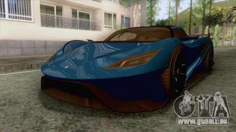 GTA 5 - Overflod Tyrant pour GTA San Andreas sur la vue arrière gauche