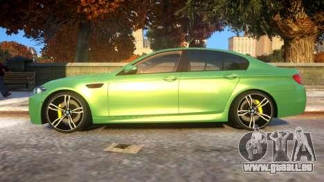 BMW M5-series F10 Azerbaijan style für GTA 4 linke Ansicht