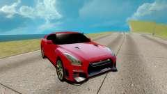 Nissan GTR Nismo rot für GTA San Andreas