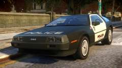DeLorean DMC-12 Police pour GTA 4