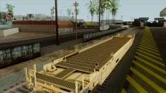 Flachwagen (gelbe Farbe) für GTA San Andreas