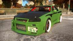 Fast And Furious Nissan Skyline R33 pour GTA 4