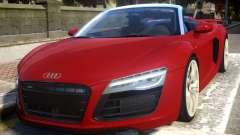 2014 Audi R8 V10 Plus Spyder v1.0 pour GTA 4