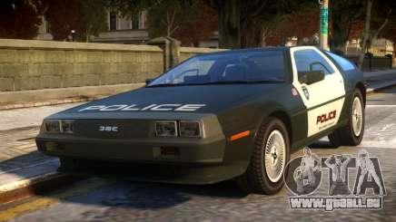 DeLorean DMC-12 Police für GTA 4