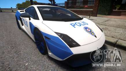 Lamborghini Gallardo LP570-4 2011 Turkey Police pour GTA 4
