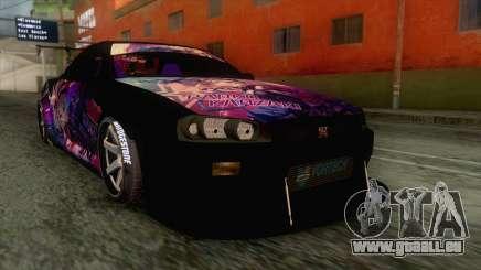 Nissan Skyline R34 Itasha Kanzaki Ran IVF pour GTA San Andreas