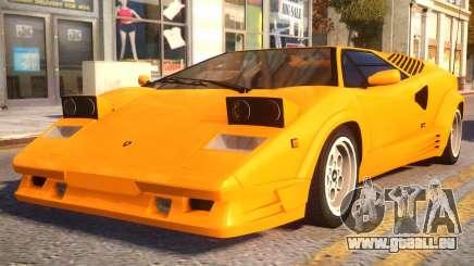 1989 Lamborghini Countach 25th Anniversary v1.1 pour GTA 4