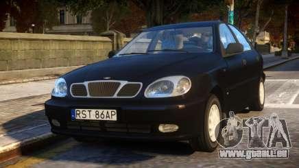 Daewoo Lanos Sedan SX PL 1997 pour GTA 4