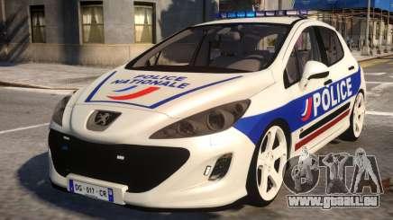 Peugeot 308 GTi Police Nationale für GTA 4