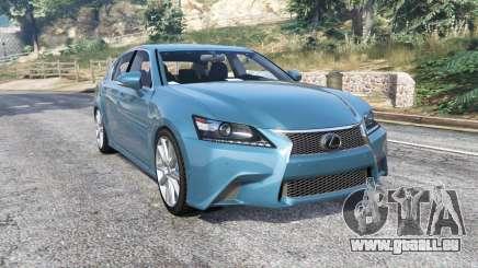 Lexus GS 350 F-Sport 2013 v1.1 [replace] pour GTA 5