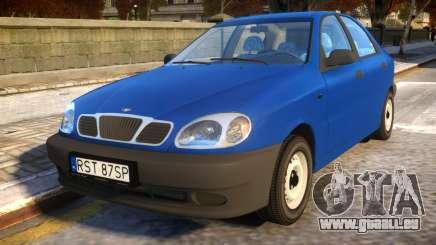 Daewoo Lanos Sedan S PL 1997 pour GTA 4