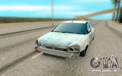 Lada Priora Cassé pour GTA San Andreas vue arrière
