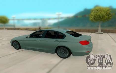 BMW 335i pour GTA San Andreas vue arrière