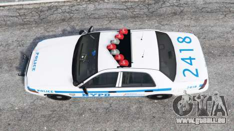 GTA 5 Ford Crown Victoria NYPD CVPI v1.1 [replace] vue arrière