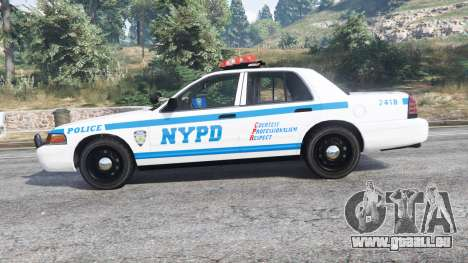GTA 5 Ford Crown Victoria NYPD CVPI v1.1 [replace] vue latérale gauche