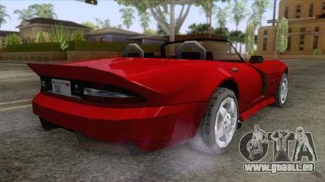 Dodge Viper Cabrio pour GTA San Andreas