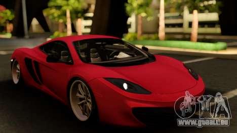 McLaren MP4-12C Low Japan Stance pour GTA San Andreas vue intérieure