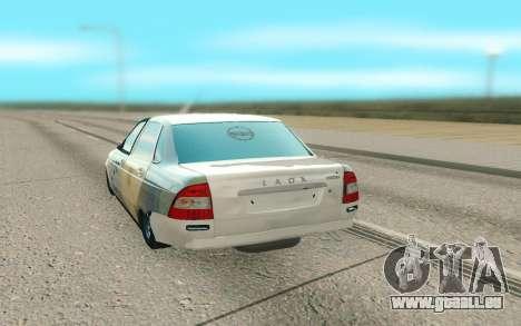 Lada Priora Cassé pour GTA San Andreas sur la vue arrière gauche