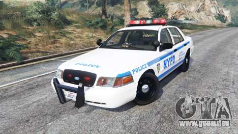 GTA 5 Ford Crown Victoria NYPD CVPI v1.1 [replace] droite vue latérale