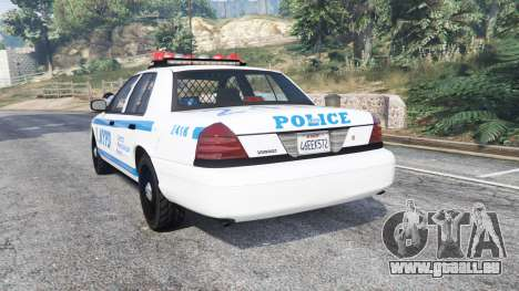 GTA 5 Ford Crown Victoria NYPD CVPI v1.1 [replace] arrière vue latérale gauche