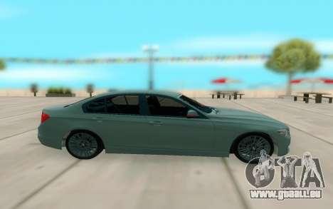 BMW 335i pour GTA San Andreas sur la vue arrière gauche