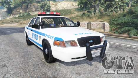 Ford Crown Victoria NYPD CVPI v1.1 [replace] pour GTA 5