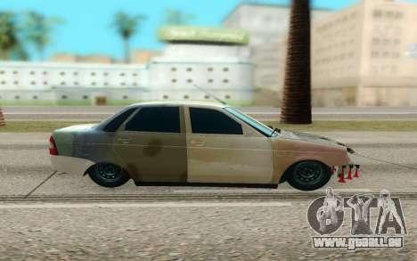 Lada Priora Cassé pour GTA San Andreas laissé vue