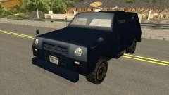 FBI Truck Civil No Paintable für GTA San Andreas