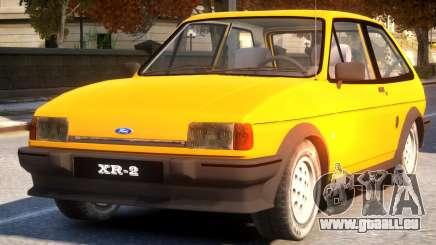 1984 Ford Fiesta XR2 pour GTA 4