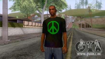 Hippie T-Shirt 1 für GTA San Andreas