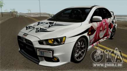 Mitsubishi Lancer Evolution X Date A Live pour GTA San Andreas