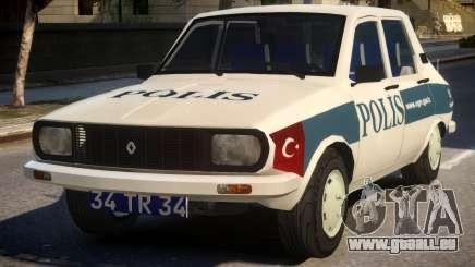 Renault 12 Turkish Police v.2 für GTA 4
