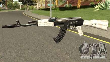 AK-47 Grey Chrome pour GTA San Andreas