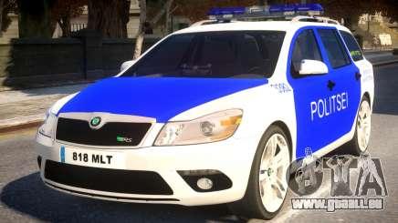 Estonian Police Skoda Octavia RS Combi 2010 pour GTA 4