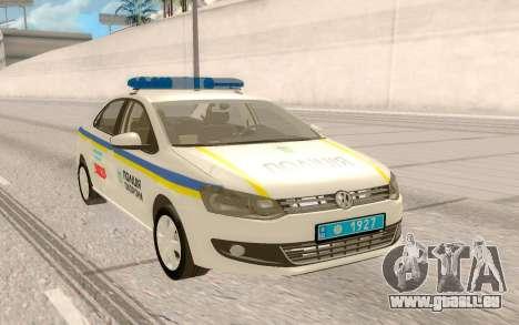 Volkswagen Polo (Ukraine) pour GTA San Andreas vue arrière
